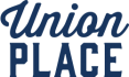 Union Place apartments logo in navy blue