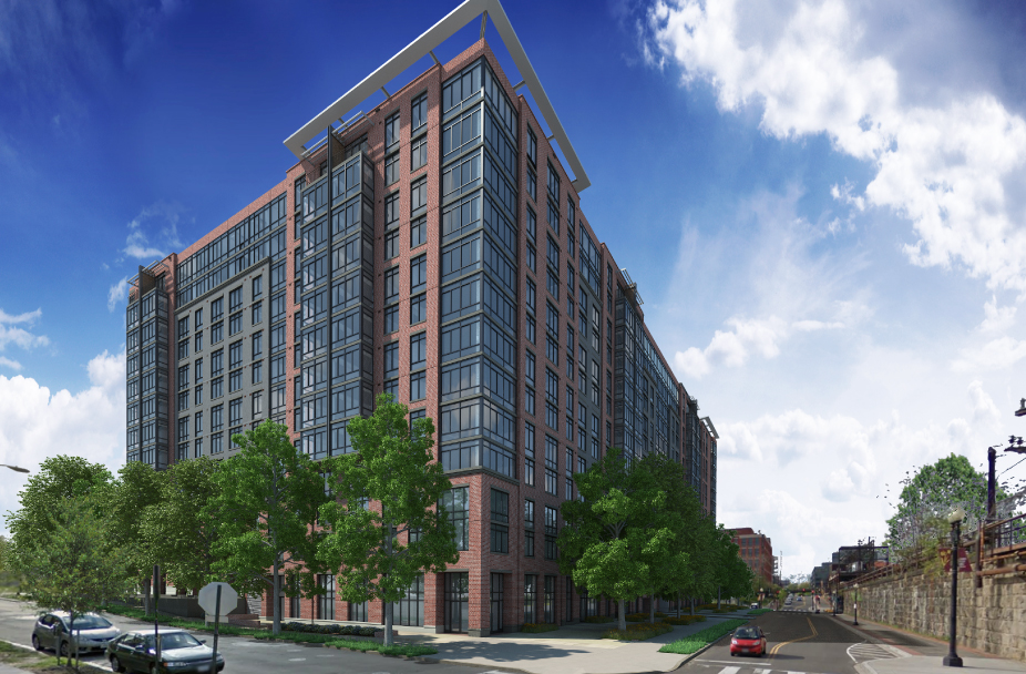 Union Place apartments in NE DC exterior rendering