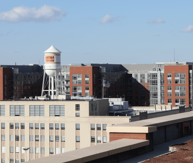 view of NoMa water tower