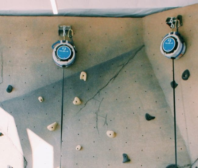 Rock climbing wall at Union Place apartments in NoMa DC